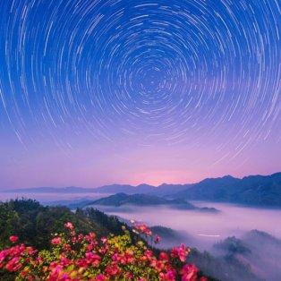 13/4/15: Αυτό το απίθανο σχέδιο που θυμίζει δίνη, σχημάτισαν τα... ίχνη διάττοντων αστέρων στην Κίνα! - Κυρίως Φωτογραφία - Gallery - Video