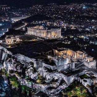 Μαγική η νυχτερινή Αθήνα από ψηλά – Φωτισμένη η Ακρόπολη συναρπάζει - Φώτο: @greece_drone [Δείτε περισσότερα στο madeingreece.news]   - Κυρίως Φωτογραφία - Gallery - Video