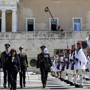Ορκίστηκε η πρώτη γυναίκα Πρόεδρος της Ελληνικής Δημοκρατίας, Κατερίνα Σακελλαροπούλου/ Photo: EUROKINISSI/POOL ΠΡΟΕΔΡΙΑ ΤΗΣ ΔΗΜΟΚΡΑΤΙΑΣ/ΘΟΔΩΡΗΣ ΜΑΝΩΛΟΠΟΥΛΟΣ - Κυρίως Φωτογραφία - Gallery - Video