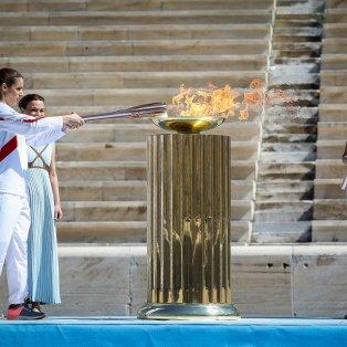 Φωτογραφίας ημέρας: Η τελετή παράδοσης της Ολυμπιακής Φλόγας στην Αθήνα/ Photo: ΜΑΡΚΟΣ ΧΟΥΖΟΥΡΗΣ / EUROKINISSI  - Κυρίως Φωτογραφία - Gallery - Video