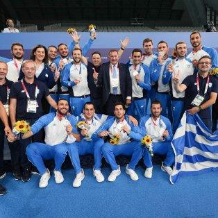 Φωτό ημέρας η Εθνική μας Ομάδα Πόλο: Κατέκτησε το ασημένιο μετάλλιο στους Ολυμπιακούς Αγώνες/  Eurokinissi-Νίκος Ζάγκας - Κυρίως Φωτογραφία - Gallery - Video