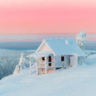 Φωτό ημέρας: Το... σπιτάκι του Άη Βασίλη στην παγωμένη Φινλανδία- Ένα μαγευτικό σκηνικό/ Photo: @rikunorakari/ instagram - Κυρίως Φωτογραφία - Gallery - Video