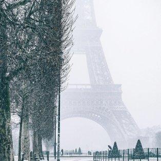 Φωτό ημέρας: Χιόνι και ομίχλη στο μαγικό Παρίσι /@wonguy974 - Κυρίως Φωτογραφία - Gallery - Video