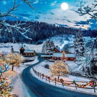 Φωτό ημέρας: Ένα πανέμορφο Χριστουγεννιάτικο τοπίο/ Photo: Instagram – @kjp - Κυρίως Φωτογραφία - Gallery - Video