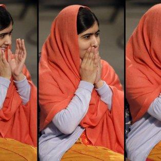 11/12/2014 - Στιγμές χαράς για μία έφηβη διαφορετική απ' όλες τις άλλες - Η Μαλάλα χθες στην παραλαβή του Νόμπελ Ειρήνης - Picture: AP Photo/Matt Dunham  - Κυρίως Φωτογραφία - Gallery - Video