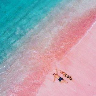 Φωτό ημέρας: Η παραλία Ελαφονήσι από ψηλά... κόβει την ανάσα με την ομορφιά της! - Πανέμορφα τιρκουάζ νερά & ροζ άμμος σαν ζωγραφιά/ Photo: Instagram - @sigousek7  - Κυρίως Φωτογραφία - Gallery - Video
