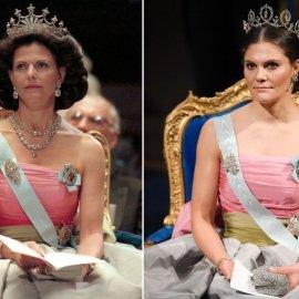 Η διάδοχος του θρόνου της Σουηδίας φόρεσε το ίδιο φόρεμα με την βασίλισσα μητέρα της, στην ίδια τελετή των Νόμπελ 23 χρόνια μετά (φωτό) - Κυρίως Φωτογραφία - Gallery - Video
