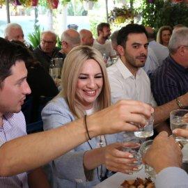 Φώφη Γεννηματά: Ουζάκι, χαμόγελα & χαλαρή διάθεση - Με δημοσιογράφους & φίλους σε ιστορικό στέκι στην Καισαριανή (φώτο) - Κυρίως Φωτογραφία - Gallery - Video