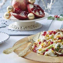 Η Αργυρώ Μπαρμπαρίγου μας προτείνει μια εύκολη Χριστουγεννιάτικη σαλάτα με λάχανο, ρόδι & ξινόμηλο    - Κυρίως Φωτογραφία - Gallery - Video