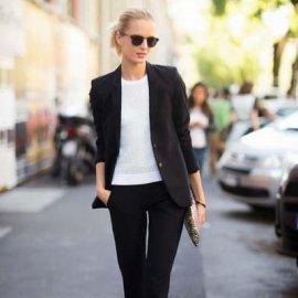 Ο σωστός τρόπος να φορεθεί το μαύρο γυναικείο κοστούμι - Κυρίως Φωτογραφία - Gallery - Video