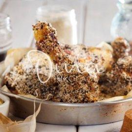 Η Ντίνα Νικολάου μας φτιάχνει λαχταριστά κοπανάκια κοτόπουλου στο φούρνο με μέλι και σουσάμι - Κυρίως Φωτογραφία - Gallery - Video