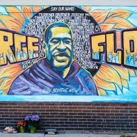 Παγκόσμια συγκίνηση με το γκράφιτι 6 μέτρων στο σημείο που δολοφονήθηκε ο George Floyd (Φωτό)  - Κυρίως Φωτογραφία - Gallery - Video