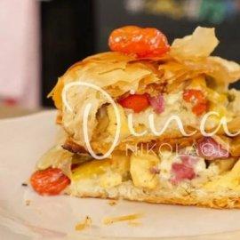 Ντίνα Νικολάου - Yπέροχη πίτα με λαχανικά, φιρίκι και μπλε τυρί - Κυρίως Φωτογραφία - Gallery - Video
