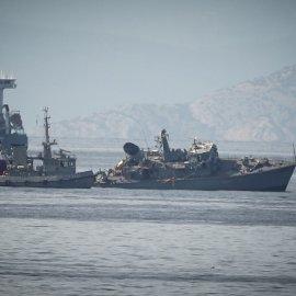 Καρέ καρέ η σύγκρουση του Ναρκοθηρευτικού «Καλλιστώ» με ένα φορτηγό πλοίο λίγο  πιο έξω από τον Πειραιά (Φωτό & Βίντεο)  - Κυρίως Φωτογραφία - Gallery - Video
