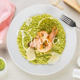 H Nτίνα Νικολάου μας φτιάχνει: Πράσινο ριζότο με γαρίδες - Ένα υπέροχο πιάτο - Κυρίως Φωτογραφία - Gallery - Video