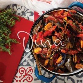 Μύδια με ρετσίνα πιπεριές και δεντρολίβανο - Θεϊκός μεζές από την Ντίνα Νικολάου  - Κυρίως Φωτογραφία - Gallery - Video