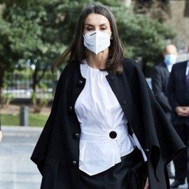 Υπέροχη για ακόμα μια φορά η βασίλισσα Λετίσια: Η εμφάνιση με δερμάτινη Hugo Boss φούστα και λευκό πουκάμισο (φωτό & βίντεο) - Κυρίως Φωτογραφία - Gallery - Video