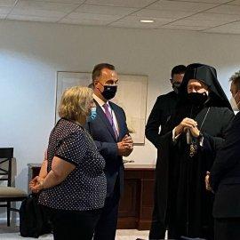 """Ολοκληρώθηκε η συνάντηση Μητσοτάκη - Ελπιδοφόρου στον ΟΗΕ - """"Το θέμα θεωρείται λήξαν - Προέχει η ενότητα των απανταχού Ελλήνων"""" (φώτο-βίντεο) - Κυρίως Φωτογραφία - Gallery - Video"""