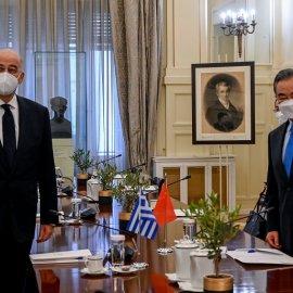 Συνάντηση Δένδια με τον Κινέζο ΥΠΕΞ: Η Ελλάδα πύλη εισόδου από την Ασία στην Ευρώπη - Απόλυτος σεβασμός στο δίκαιο της θάλασσας (φώτο) - Κυρίως Φωτογραφία - Gallery - Video